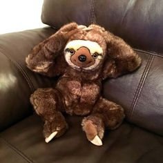 neal sofaworks teddy novak elegant lounger sofa with pull out trundle 41 best sloths images stuffed toys plushies little sloth highly collectable brand new post free