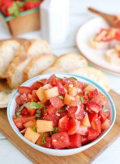 Berry Melon Bruschet