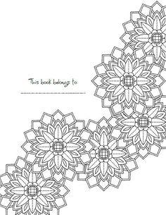 Intricate Mandala Coloring Book Adult Coloring by KrishTheBrand