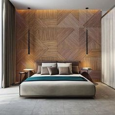 Stunning timber feature wall & hanging pendants! ✨