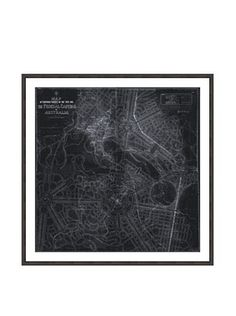 Oliver Gal Design for Australia's Capital Map 1911 Framed Art Print