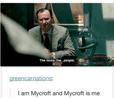 I CANNOT STRESS ENOUGH HOW MUCH I AM MYCROFT IN THIS SCENE TALKING ABOUT MY UNIVERSITY HALLWAYS