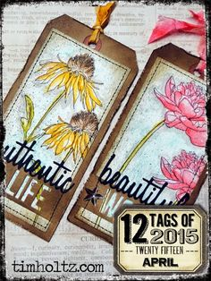 Annette's Creative Journey: 12 Tags of 2015 - My April Journal Pages