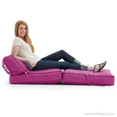 Comfort Research - Big Joe Flip Lounger in SmartMax - Pink Passion | On SALE $99.99 + Free Shipping + Fast Delivery + No Sales Tax!