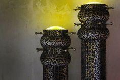 "Vintage ambience with two beautiful ""Appendiabiti"" from 1971 by italian architect and designer Nanda Vigo. #erastudioapartmentgallery #erastudio #designgallery #collectibledesign #madeinitaly #artworks #uniquepiece #nandavigo #historicaldesign #interior #igersmilan #placetobe #vsco #vcsogood #exhibition #unusualalloys #brass #details #italiandesign #brass #fur #neonlights"