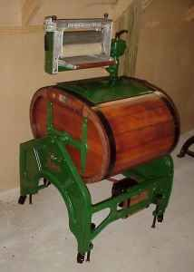~ 1920 Washing Machine ~ i remember my nana having one of these and my arm got stuck in the wringer when i put a sock thru :(