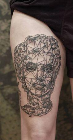 Graphic & Geometric Portrait of Marilyn Monroe