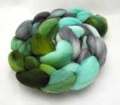 Thunderboom  Roving  Fiber  Hand Dyed Dyed to by DyeabolicalYarns