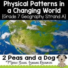 Teachers are provided with 16 in-depth lessons to help their students explore and understand physical patterns in a changing world. Supports the Ontario Grade 7 Geography Curriculum Strand A. Topics covered are landforms, water systems, vegetation regions Geography Lesson Plans, Geography Worksheets, History Lesson Plans, Physical Geography, Teaching Geography, World Geography, Human Geography, Social Studies Resources, Teaching Resources