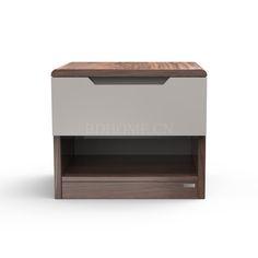 床头柜 实木框架 PT1637G-A W520*D420*H450 mm