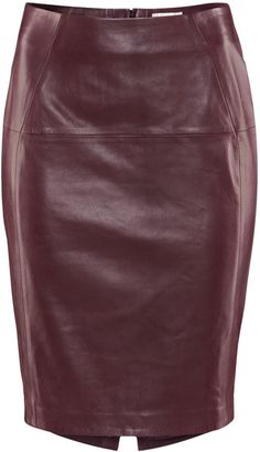Leather Oxblood Skirt - great way to combine two fall trends in one item.