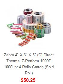 Search results for: 'Zebra zebra 4 6 3 c direct the l z perform rolls carton sold roll' Zebra Label Printer, Thermal Labels, Hardware Software, Printing Labels, Pos, Printers