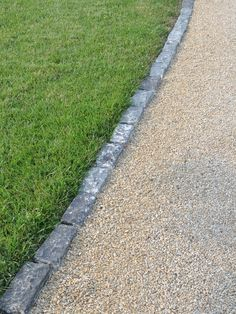 Edging for gravel driveway