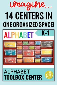 Turn your teacher toolkit box into an alphabet literacy center! Prepare once and use ALL year EVERY year for Guided Reading word work centers. From Positively Learning Blog #teachertoolbox @alphabetcenters