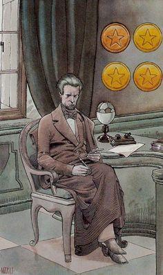 Four of Coins - Secret Tarot by Marco Nizzoli