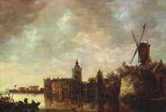 Jan van Goyen : Montfort castle (Thyssen-Bornemisza Museum) 1596-1656 ヤン・ファン・ホーイェン