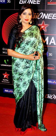 Shreya Ghoshal at the GiMA Awards 2014.