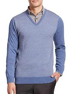 Saks Fifth Avenue Collection Merino Wool V-Neck Sweater