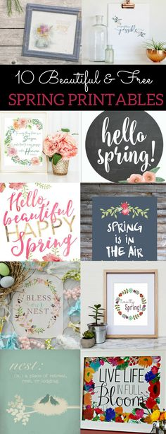 Free spring printables, spring printables, spring printables decorations