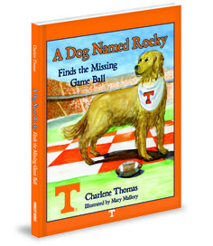 The Game Ball is Missing! Can Rocky, the Golden Retriever, save the day?  Follow Rocky as he searches the historic University of Tennessee campus,  meeting Smokey, the Cheerleaders, The Pride of the Southland Marching Band,  and others along the way. Will the Vols get to play?