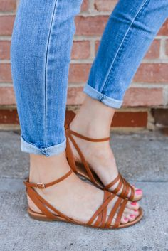 Faux Leather Wrapped Ankle Strappy Flat Sandals Indio-21 – UOIOnline.com: Women's Clothing Boutique