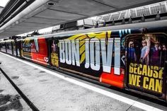 Bon Jovi Train this was taken in Lisbon, Portugal by Julie Hargreaves