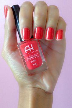 #nails #polish #manicure #unhas #esmalte #salsa #red #vermelho #AnaHickman