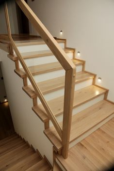 Stair Railing Design, Home Stairs Design, Staircase Remodel, Staircase Makeover, Laminate Stairs, Building Stairs, Modern Stairs, House Stairs, Hallway Decorating