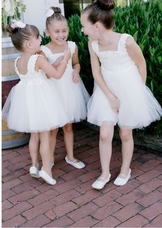 LOVE these Ballerina style flower girls Designer Flower Girl Dresses, Rustic Elegance, Wedding Gallery, Ring Bearer, Flower Girls, Special Occasion Dresses, Ballerina, Wedding Styles, Real Weddings