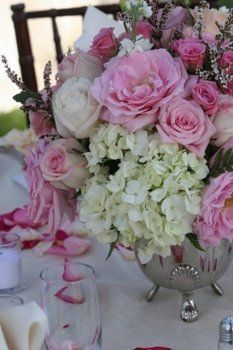 Wedding, Flowers, Pink, Centerpiece - Photo by Kimberlee Miller