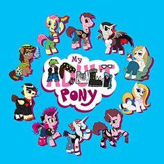 'My Adult Pony' Funny Animal Cartoon Parody - Vinyl Sticker