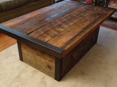 Wooden Rustic Storage Coffee Table