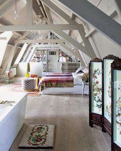 #Dachwohnung mit coolem Konzept