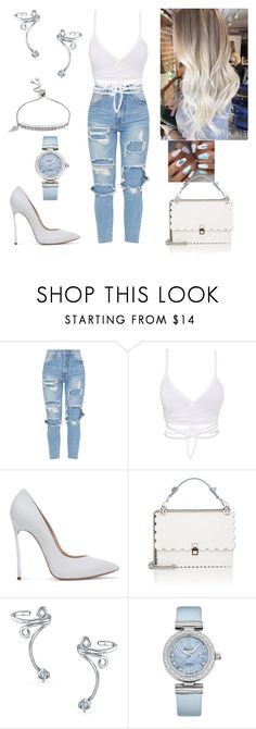 """Simply Gorgeous"" by paoladouka on Polyvore featuring Casadei, Fendi, Bling Jewelry, OMEGA and Brilliance"