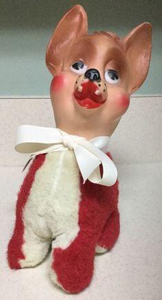 Vintage Ideal Toy Funny Face Vinyl Toy Dog | eBay