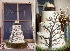 7. Growing Tree Rustic Wedding Cake... - 20 Rustic Wedding Cakes to Complement Your Theme… |Wedding