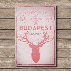 The Grand Budapest Hotel poster movie poster art print wes anderson Stag society of the crossed keys