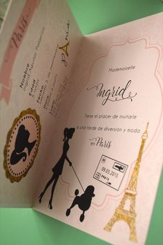 35 Paris passport invitations boarding pass RSVP by anaderoux