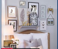 Nice Wall arrangement to for a bedroom