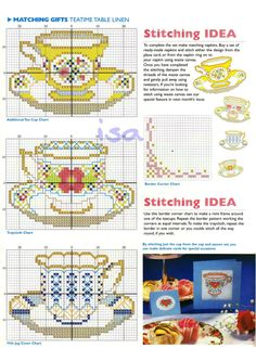 Cups and Saucers - suitable for cards