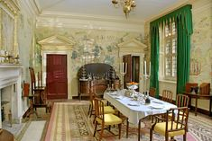 Avebury Manor ~ The Dining Hall after redecoration, reimagined as it may have been in the late eighteenth century. ©National Trust