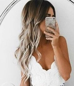 Ombre hair is the hair coloring effect that has the bottom hair portion looking lighter than top portion. Blonde Ombre, Ombre Hair, Blonde Hair, Light Brown Hair, Light Hair, Wedding Hairstyles, Cool Hairstyles, Cool Hair Color, Hair Colour