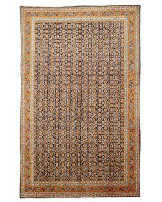 Hand-knotted Wool Blue Traditional Oriental Mahi Tabriz Rug (8'7 x 13'10)
