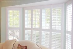 living room plantation shutters