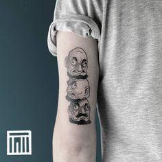 """Gefällt 78 Mal, 5 Kommentare - Thiago de Mello - Tattooer (@thiago.de.mello.ink) auf Instagram: """"Kashira from Spirited Away. Obrigado Felix! 🙏 . . For inquiries: thiagodemello@gmail.com . . . .…"""" Spirited Away Tattoo, Blackwork, Tattoo Ideas, Skull, Ink, Tattoos, Instagram, Tatuajes, Tattoo"""