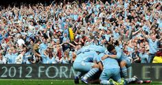 In the final minutes Manchester City stole away what is arguably the most exciting title race ever from Manchester United, giving City fans something to finally cheer about after 44 years without a. Best Football Team, Football Fans, Manchester City Wallpaper, Zen, Team Photos, Blue Moon, Manchester United, Premier League, First Love