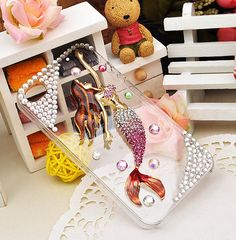 Pink Mermaid Highquality crystal rhinestone cell by SuppliesEmpire, $19.90