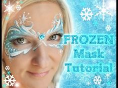 Frozen Snowflake Face Painting Tutorial  	http://www.facepaintforumshop.com/?Click=2590 Makeup #frozen #facepaint #party