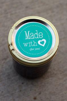 Printable mason jar label  2.5 inch diameter  Canning jar