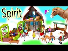 Im so excited to check out the newest Spirit Riding Free Playmobil Playsets! Check out all the different playsets with more characters from the Netflix TV Sh. Cute Minecraft Houses, Horse Star, Playmobil Sets, Set Honey, Netflix Tv Shows, Star Stable, All About Horses, Horse Barns, Wild Horses